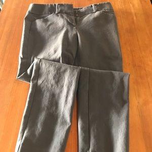 LOFT petite Marissa skinny gray pants